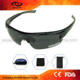安い卸し売りカスタムロゴの黒のPolarzied実行の循環のサングラス