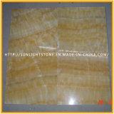 Mármol de Onyx amarillo natural barato Polished de la miel para las losas, azulejos