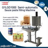 Máquina de rellenar de la goma semiautomática de la salsa G1lgd1000 para el atasco