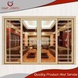 De moderne Schuifdeur van het Aluminium van de Dubbele Verglazing Syle met het Ontwerp van de Grill