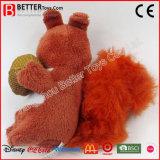 Soft animal en peluche caresser jouet en peluche pour bébé écureuil les enfants à jouer
