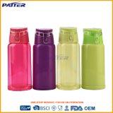 Botella de agua de consumición plástica linda de lujo durable
