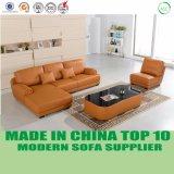 Sofá de couro alaranjado Home moderno do jogo de sala de visitas da mobília