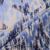 Nueva tela del telar jacquar del poliester del tinte del hilado 2017 para el sofá y la cortina