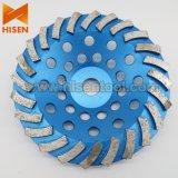 колесо чашки диаманта картины 180mm спиральн Turbo для бетона