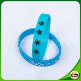 Wristband del silicone stampato nuovo disegno con il marchio impresso