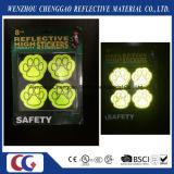 Da segurança popular das patas do cão do PVC etiqueta reflexiva