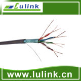 Cable de la red del cable de LAN de CAT6A SSTP 23AWG 4p