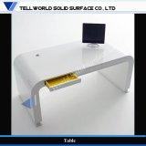 高い光沢のある白いCorianの机の事務机エグゼクティブ