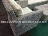 熱い販売のアルミニウム藤の柳細工のソファーの一定の屋外の家具