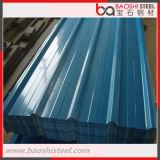Azulejo de material para techos acanalado galvanizado prepintado