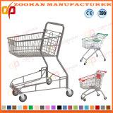 Amerikanische Art-Supermarkt-Einkaufen-Metallkarren-Laufkatze (Zht284)