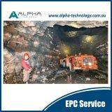 採鉱のリモート・コントロールシステムLHD情報処理機能をもった鉱山