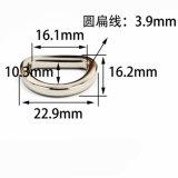 A curvatura quente do anel-D da liga do zinco do metal da venda para o saco parte os acessórios dos bens do couro de sapatas da curvatura de correia (YK1347)