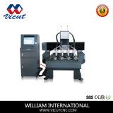 8 Chefes Router CNC rotativa máquina de corte de madeira (VCT-2013R-2Z-8H)