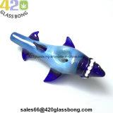 "4 "" verre haut de gamme Silv Handpipe requin de fumée de tabac Fumée 420"