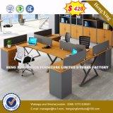 까만 색깔 사무용 가구 L 모양 사무실 워크 스테이션 칸막이벽 (HX-8N0166)