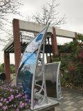 Janela de Policarbonato de cassetes completo persianas e marquise de capa de chuva de porta