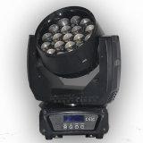 19pcsx15W LED Wäsche und Summen-Aura-bewegliches Hauptlicht mit ausgezeichnetem Träger und waren Effekt