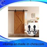Acier inoxydable coulissant en verre en bois de matériel de porte de grange