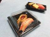 Venda por grosso de plástico descartável Recipiente Placa Sushi Sushi Caixa com tampa Anti-Fog