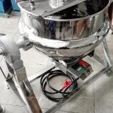 Acier inoxydable inclinant la nourriture revêtue de bouilloire de chauffage au gaz faisant cuire le mélangeur