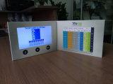 Cartão video de papel do LCD do convite colorido da impressão de Cmyk para o anúncio da medicina da saúde