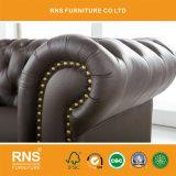 La combinación de diseño de Chesterfield sofás de cuero sofá de la Oficina A01