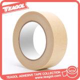 Alta Temp. Papel de enmascarar cinta adhesiva con pegamento de goma