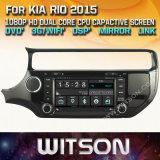Witson Windows KIA 리오 2015년에서 라디오 입체 음향 DVD 플레이어