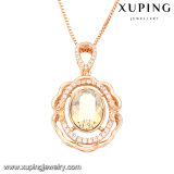 Swarovski에서 43167의 Xuping 유행 두바이 금에 의하여 도금되는 Wedding 목걸이 보석 결정
