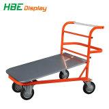 Chariot de manutention des matériaux d'acier plate-forme de panier