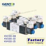 elettrovalvola a solenoide femminile pneumatica di controllo di aria 4V330