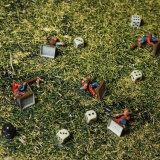 6 geöffneter Bereich-Tabletop Kampf-Gummimatte ' x-4 ' mit tragendem Fall durch Stratagem