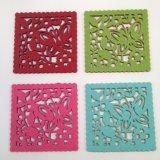 De gevormde Onderleggers voor glazen Placemat van de Onderlegger voor glazen van de Deken Polyester Gevoelde Mooie Gevoelde