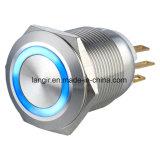 De Schakelaar van de Drukknop van het Roestvrij staal van het nieuwe Product L22A, de Ring Verlichte Schakelaar van de Drukknop