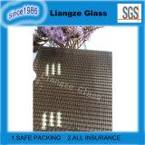 Темной прокатанное бронзой защитное стекло с металлом
