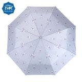 Оптовая торговля высокое качество дешевые Custom печать Sun дождь 3 зонтик складывания крыльев