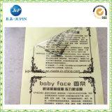 Autoadesivo autoadesivo a resina epossidica di carta di plastica trasparente impermeabile di stampa del contrassegno (jp-s187)
