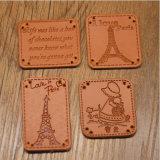 衣装袋のための卸し売り安いカスタム浮彫りにされた革パッチのラベル