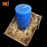 In Kunstfertigkeit-helle blaue Marmormuster-preiswerte Pfosten-Kerze-Extragroßem vervollkommnen