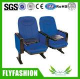 University mobiliario cómodo asiento plegable de tela silla silla auditorio