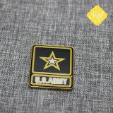 Qualitäts-Goldsilber überzogener förderndes kundenspezifisches Metallharter DecklackPin