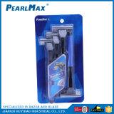 Barato Razor Blade Triplo com lâmina de aço inoxidável máquinas de barbear descartáveis