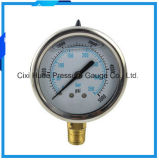 60mm Olie - de gevulde Meter van de Druk van het Roestvrij staal/Manometer
