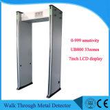 0-999 прогулка Senstivity 33zones через гостиницу пользы детектора металла Ub800