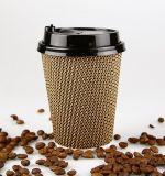 Ondulation Corrugaetd de boire du café chaud Coupe du papier de verre de thé