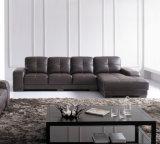 Sofá moderno 6047# do couro do sofá do sofá Home