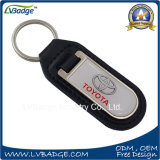Oem Custom Metal Car logo Leather key ring