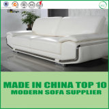 Sofa moderne de cuir d'acier inoxydable de salle de séjour de Dubaï